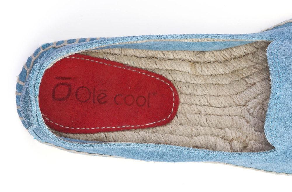 alpargatas planas de mujer Olé Cool de serraje azul