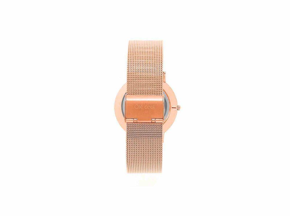 reloj en color oro rosado para mujer de la marca olecool