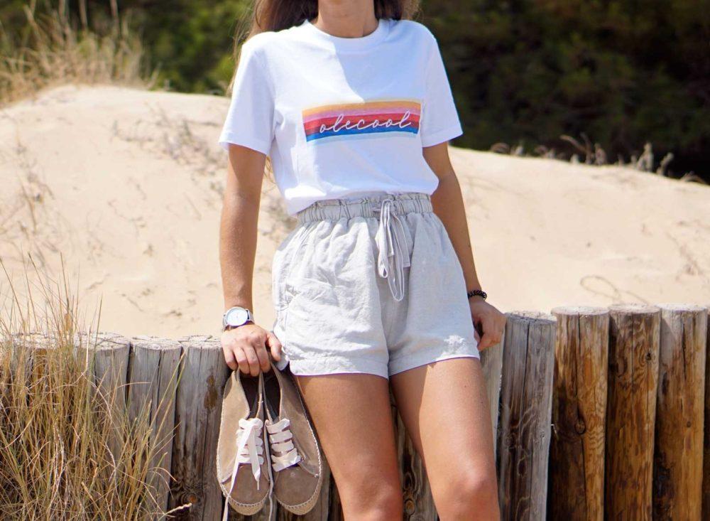 camiseta arcoiris para mujer