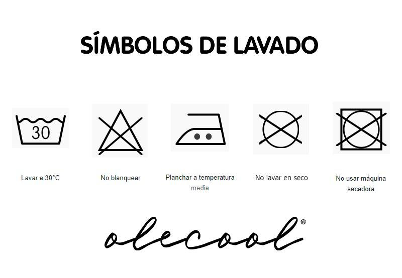Símbolos de lavado camiseta arcoiris olecool
