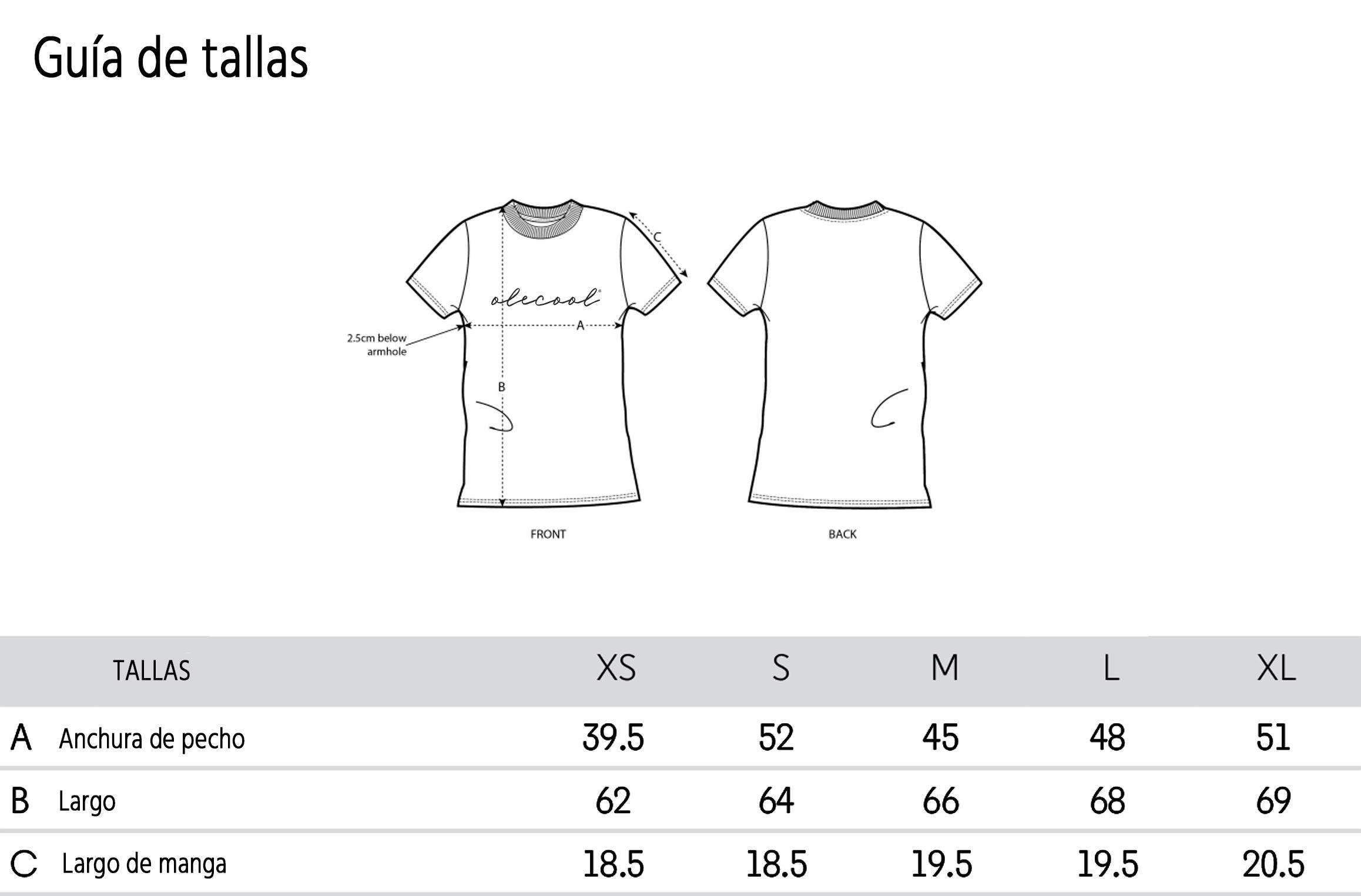 Guia-de-tallas-camisetas - Olé Cool España