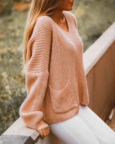 Jersey mujer de punto de OLĒ COOL de color arena