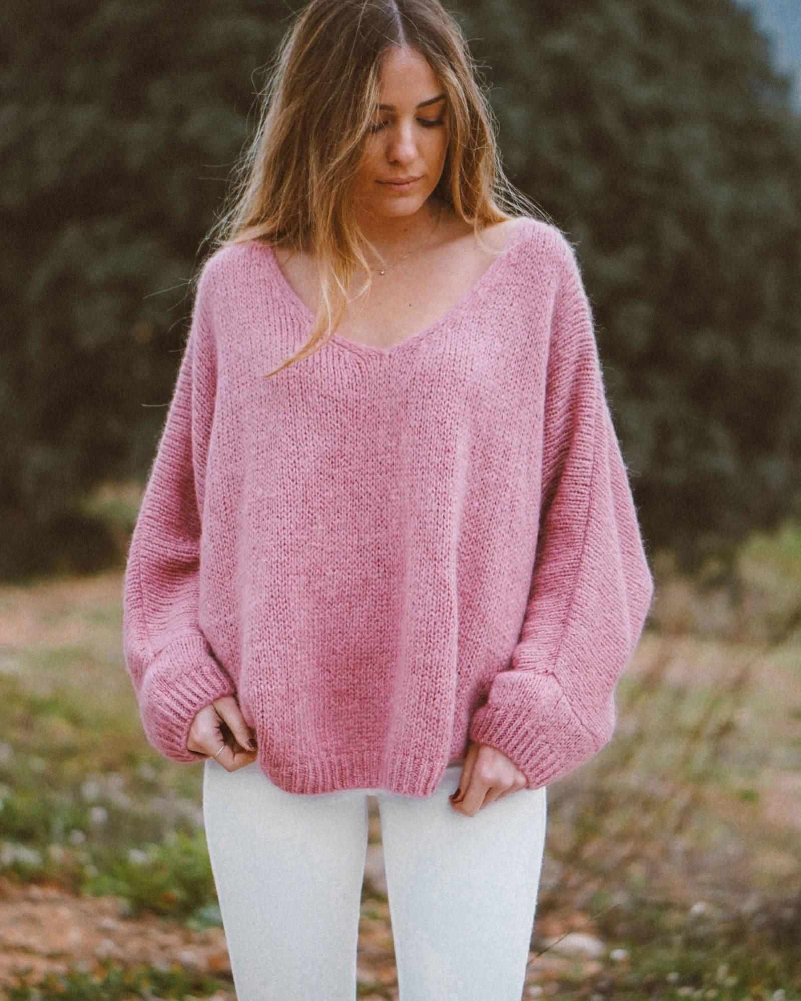 Jersey mujer Toulouse de punto de OLĒ COOL de color rosa