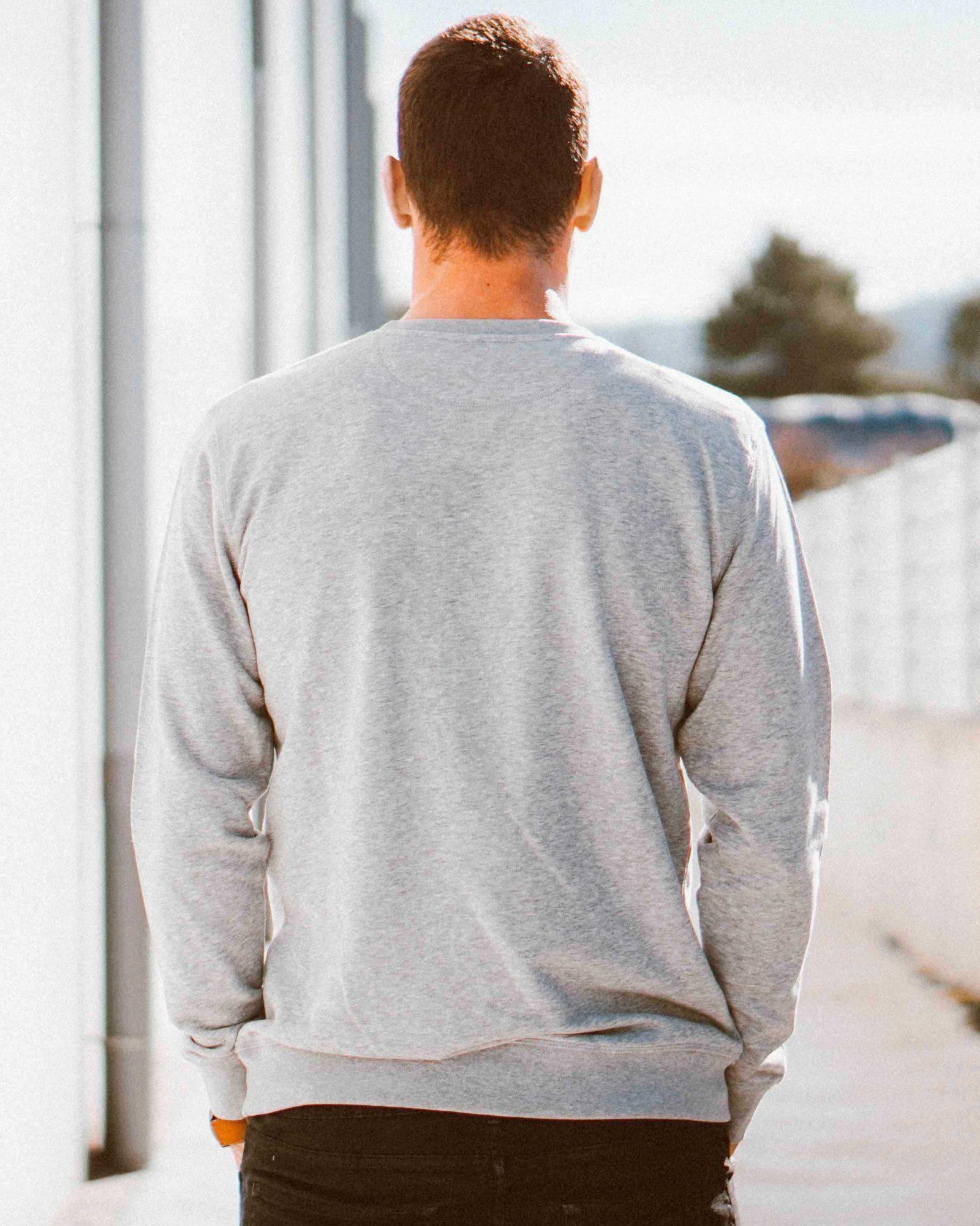 Sudadera hombre moraig color gris de OLÉ COOL